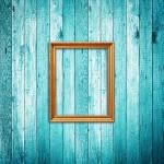 Bilderrahmen, blau Wand