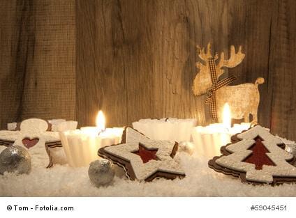 Moderne Dekoration zu Weihnachten