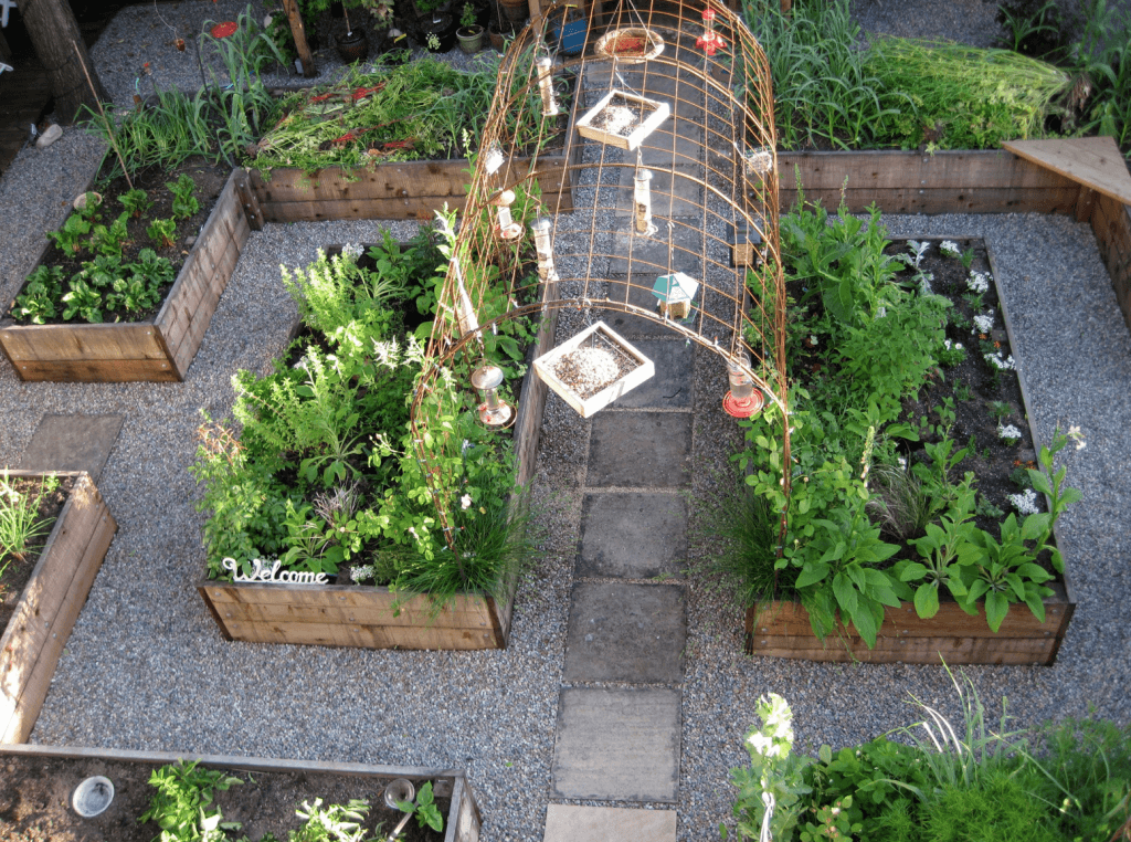 So planen sie ihren nutzgarten optimal for Beautiful kitchen garden designs